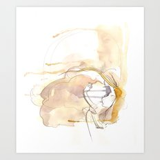 Cloud Mouth: Lavender and Yellow Art Print