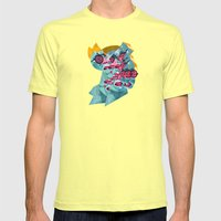 031112 Mens Fitted Tee Lemon SMALL