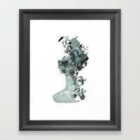 Freya's Hair (Teal) Framed Art Print