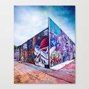 Graffiti Walls H-Town Canvas Print