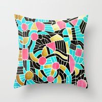 - summer jump - Throw Pillow