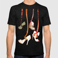 Shoe Strings  Mens Fitted Tee Tri-Black SMALL
