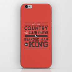 In the country of the clean shaven, the bearded man is king!  iPhone & iPod Skin