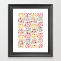 Fruity Pants Pattern Framed Art Print