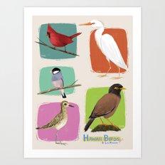Hawaii Birds Collection Part 1 Art Print