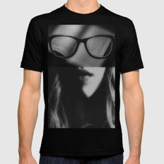 Like an open book Mens Fitted Tee Black SMALL