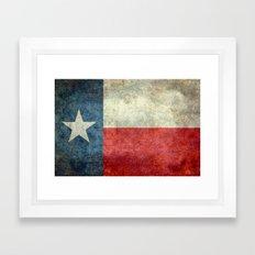 Texas Flag - Retro 1 Framed Art Print