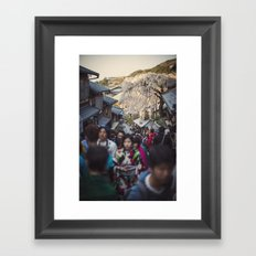 The Road to Kiyomizu, Kyoto, Japan 2015 Framed Art Print