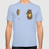 Bee game Mens Fitted Tee Tri-Blue SMALL