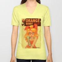 Oranges bunny PIN UP magazine Unisex V-Neck