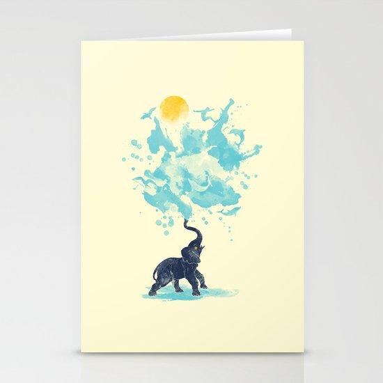 summer splash Stationery Card