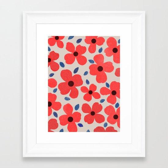 Dogwood Red Framed Art Print