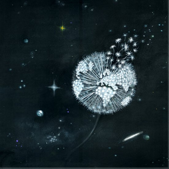 Blowing in Space Art Print