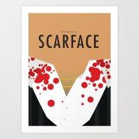 Scarface - Minimalist Po… Art Print