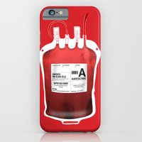 iPhone & iPod Case featuring My Blood Type is A, for Awesome! *Classic* by Marco Angeles