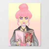 Girls Read Comics Too, S… Canvas Print