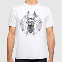 Stag Beetle Mens Fitted Tee Ash Grey SMALL