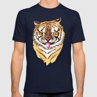 El Tigre Mens Fitted Tee Navy SMALL