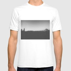 Night at the Half Dome Mens Fitted Tee White SMALL