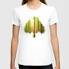 Sunbeams In The Forest Womens Fitted Tee White SMALL