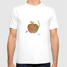 Apple White Mens Fitted Tee SMALL