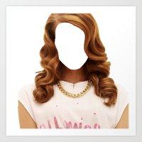 Lana Del Face Art Print