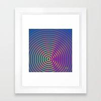SoundWaves Lime/Magenta Framed Art Print
