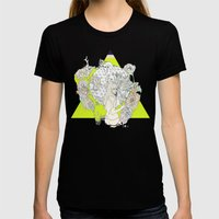 Für Owl  Womens Fitted Tee Black SMALL