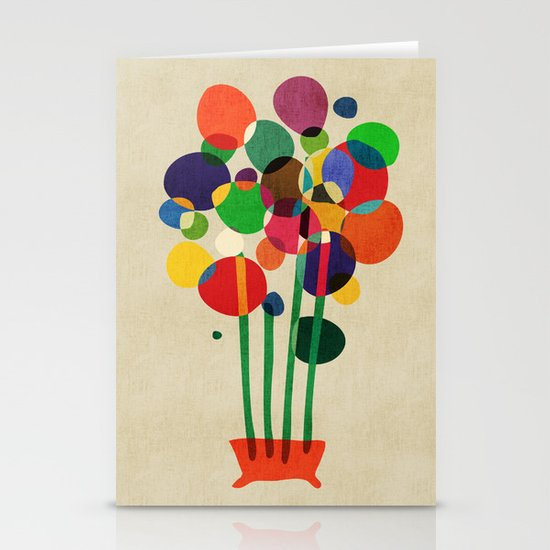 Happy flowers in the vase Stationery Card