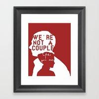 Not A Couple Framed Art Print