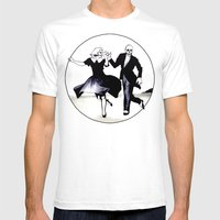 Skeleton Swing Mens Fitted Tee White SMALL