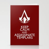 Keep calm and assassinate Templars Stationery Cards