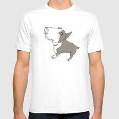 Terry White Mens Fitted Tee SMALL