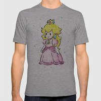 Princess Peach Mens Fitted Tee Athletic Grey SMALL
