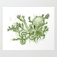 Octopus Tree Art Print