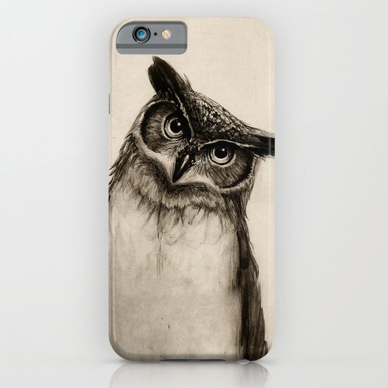 Owl Sketch iPhone & iPod Case