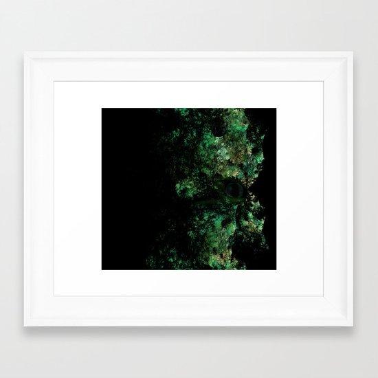 Lizard MAn fractal art  Framed Art Print
