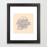 Useful, Beautiful, Joyful Framed Art Print