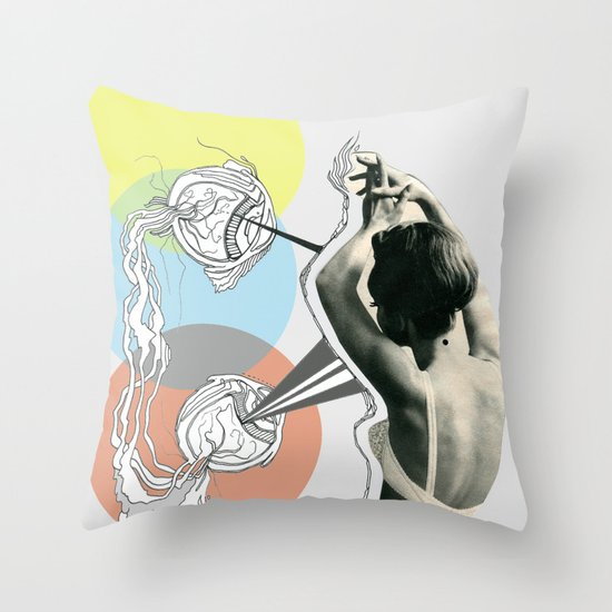 fish eye Throw Pillow