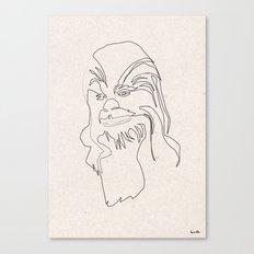 One Line Chewbacca Canvas Print