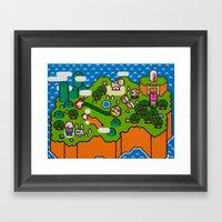 Super Grass Land Framed Art Print