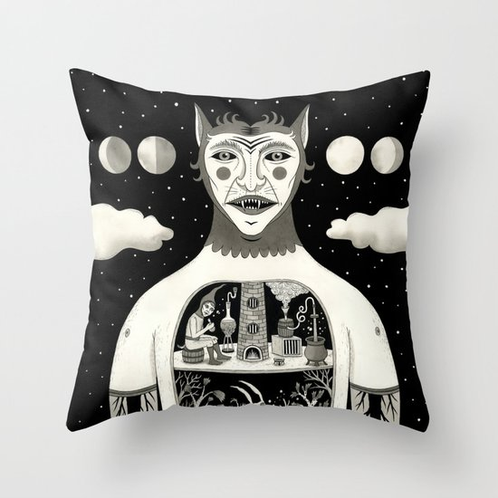 Under Skin Throw Pillow