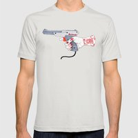 Hunt Mens Fitted Tee Silver SMALL