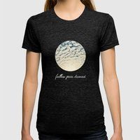 Clouds Effect Womens Fitted Tee Tri-Black SMALL