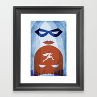 Nightly Patrol Superhero… Framed Art Print