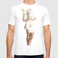 Daisy Dance Mens Fitted Tee White SMALL