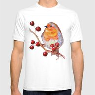 T-shirt featuring Robin Redbreast by Ilaria De Rosa