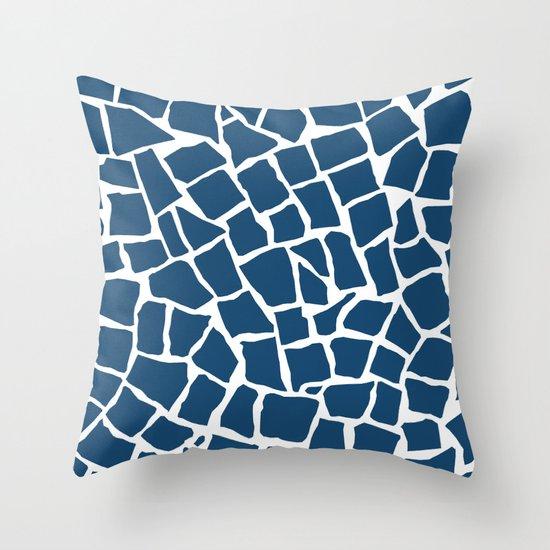 Mosaic Zoom Navy Throw Pillow