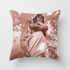 WallaAngelRust Throw Pillow