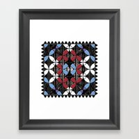 African Cowrie Shells Framed Art Print